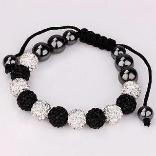 Shamballa friendship bracelet 10mm crystal mud disco ball (11PCS