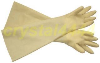 30 Mil 24 Shoulder Length Latex Rubber Glove Long Cuff