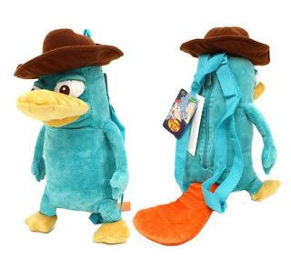 Phineas and Ferb Agent P  Perry the Platypus Figure Plush Backpack 16