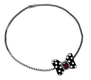 Disney Couture MINNIE x MAWI Double Minnie Mouse Bow Necklace Limited