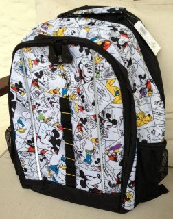 Disney Mickey Mouse Comic Pattern Backpack NEW
