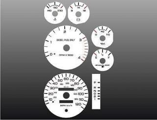 1994 1997 Dodge Ram DIESEL CUMMINS Dash Cluster White Face Gauges 94