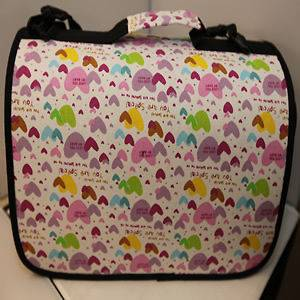 HEART PATTERN PET DOG CAT CARRIER BAG 16 X 8.5 X 8.5 WHITE NEW
