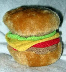 Soft Hamburger Squeeze Toy Dog Puppy Toys