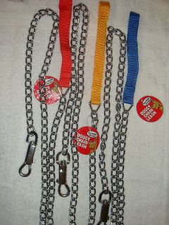 Heavy Duty Metal Dog Leash   Blue, Red, or Yellow/Orange Spunkeez