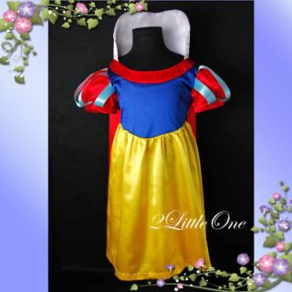 Snow White Princess Cartoon Character Girl Fancy Dresses Up Costume Sz