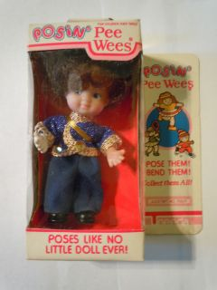 1984 Uneeda Posin Pee Wee Doll With Michael Jackson Style Outfit