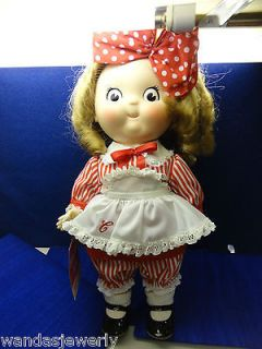 VINTAGE CAMPBELL KIDS DOLL   GIRL DOLL 17 INCHES TALL