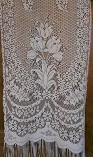 spring flowers, French Lace curtain, front door panel net, patio door