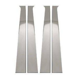 BULLY STAINLESS STEEL DOOR PILLAR TRIM 4 PC. DODGE RAM QUAD CAB 02 08