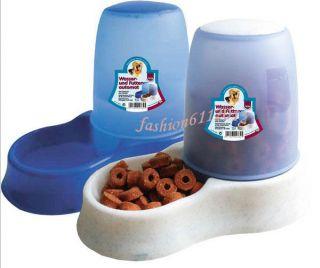 Pet Dog Cat Drinking Bottle Bowl Feeding Dispensing Water Feeder