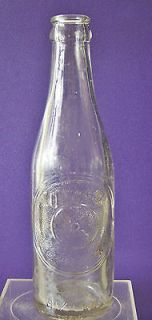 Vintage Embossed Dr. Pepper Soda Bottle Winston Salem N.C. 10 2 4 1934