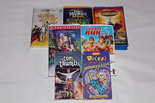 LOT OF 7 NICKELODEON W/B MGM DREAMWORKS VHS MOVIES
