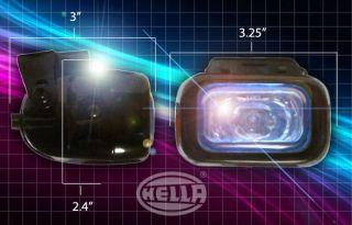 25 RECTANGULAR HELLA MOTORCYCLE FOG & DRIVING LIGHTS LAMPS KIT