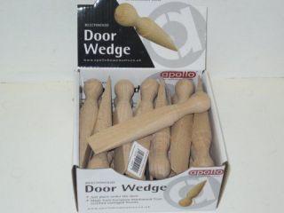 New Wooden Door Stop Stopper Jam Wedge Stops Doorstop Solid Beech Wood