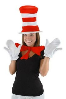 Dr. Seuss Cat In The Hat Costume Accessories Kit, Adult NEW SEALED