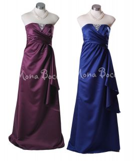 10 12 14 Cornflower blue Aubergine purple bridesmaid dress, formal