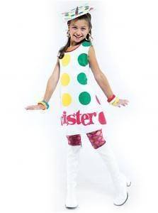 Child Classic Twister Board Game Halloween Costume Fancy Dress Up PMG