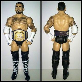 WWE Mattel CM Punk Battle Pack Custom Belt Wrestling Action Figure