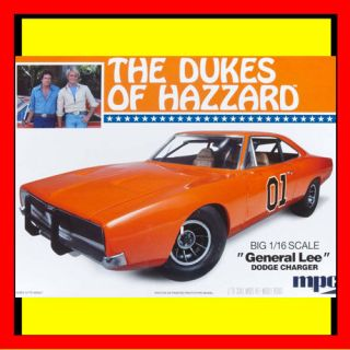 MPC DUKES OF HAZZARD DODGE CHARGER General Lee 1/16 Scale Model Car