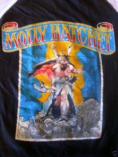 VINTAGE MOLLY HATCHET ROCK BAND SHIRT JACKSONVILLE FL