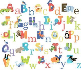 CC New Animal Alphabet Wall Sticker Decals for kids boys girls