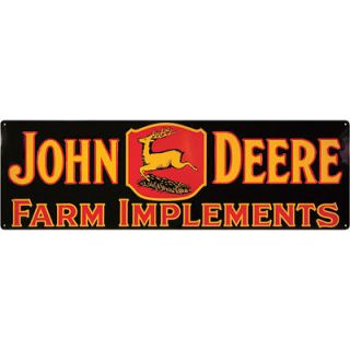 John Deere Horizontal Metal Advertising Sign   Run With It