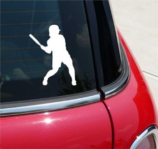 SOFTBALL 2 BATTER PLAYER AT BAT GRAPHIC DECAL STICKER VINYL CAR WALL