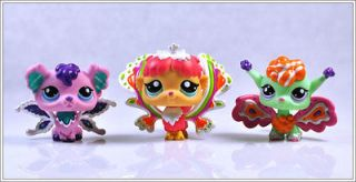 Lot 3 Littlest Pet Shop RARE Girl Child Collection Figure Toy Loose