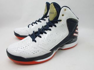 DS 2012 ADIDAS ROSE 773 WHITE USA OLYMPIC SZ 9.5 ROSE BULLS adizero
