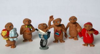 The Extra Terrestrial Aliens Mini Figure Figurines Toy Set of 6pc