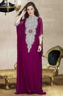 DUBAI VERY FANCY KAFTANS/abaya/jalabiya Ladies Maxi Dress Khaleej(blue