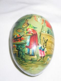 Old Paper Mache Easter Egg Candy Container Made in Germany Bunny