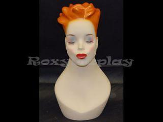 Mannequin Head Bust Vintage Wig Hat Jewelry Display Y4X