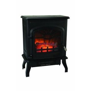 1500 Watt Wood Stove Style Electric Heater Fireplace with Thermostat