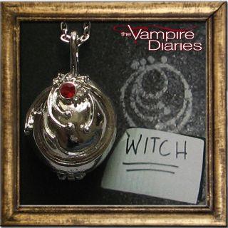 THE VAMPIRE DIARIES ELENAS VERVAIN NECKLACE LOCKET SUIT TWILIGHT