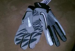 Nike Vapor Jet football receiver gloves GRAY/white/blk SIZE XXXL