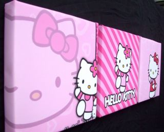 DEEP EDGE BOX CANVAS PICTURES HELLO KITTY PINK NEW 6 mini