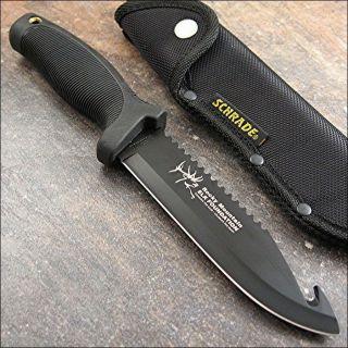 Timer Rocky Mountain Elk Foundation Hunter Guthook Sawback Knife NEW