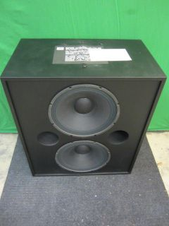 JBL Professional Model 3639 Dual 15 Speakers in Cabinet NIB NOS