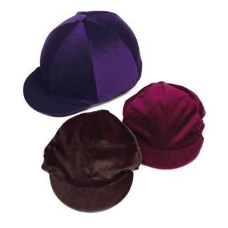Velvet Horse Riding Hat Covers   Equestrian Equipment