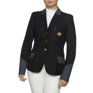 KINGSLAND EQUESTRIAN CHANCERY HERRINGBONE LADIES SHOW JACKET   DARK