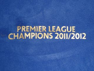 Manchester Man City Premier League Champions 2011/2012 Iron On Patch