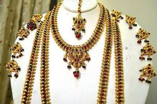 Wedding Bridal Jewelry Set Mango Necklace Earrings & Maang Tikka Choti