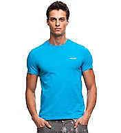 Armani Exchange embroidered logo A/X turquoise T shirt size Medium NWT
