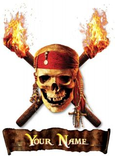 PIRATES OF THE CARIBBEAN IRON ON T SHIRT FABRIC TRANSFER OR STICKER