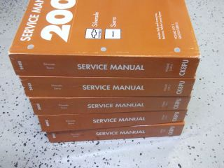 2002 Chevy GMC SILVERADO SIERRA Truck Service Repair Shop Manual SET