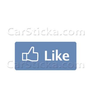 Facebook Like car window vinyl sticker decal
