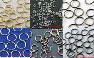 Silver/Gold Plated Open Metal Jumping Rings Finding 3size to choose