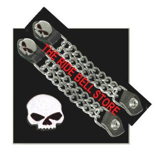 Willie G BLACK EYED SKULL MOTORCYCLE VEST Extender CHAINS
